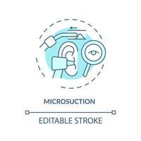 ícone do conceito de microssucção vetor