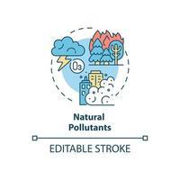 ícone do conceito de poluentes naturais vetor