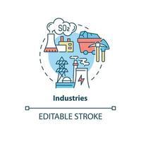 ícone do conceito de indústrias vetor