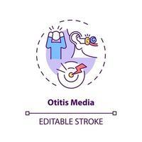 ícone do conceito de otite média vetor