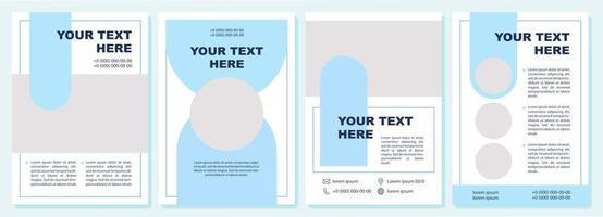 modelo de folheto de promoção de marketing vetor