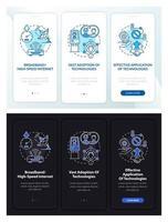 pré-requisitos de inclusão digital com sucesso tela da página do aplicativo móvel com conceito vetor