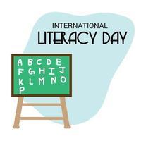 ilustração vetorial de um plano de fundo para o dia internacional da alfabetização vetor
