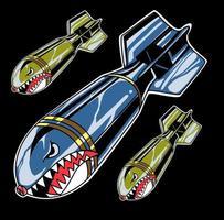 vetor de bomba de tubarão