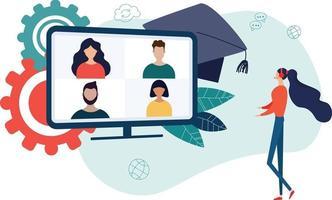 conceito de educação online vetor