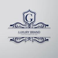 Vetor de design floral brilhante marca de luxo