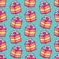 ilustração de padrão sem emenda de caixa de leite vetor