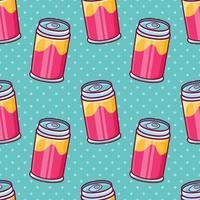 refrigerante pode ilustração de padrão sem emenda em estilo simples vetor