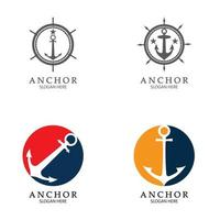 vetor de design de logotipo âncora