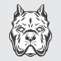 vetor pitbull monocromático