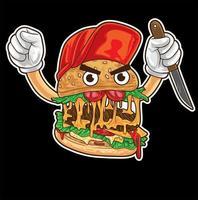 vetor personagem hambúrguer