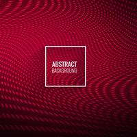 Abstractl elegante vermelho pontilhada fundo de onda vetor