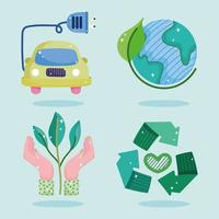 ecologia de energia verde vetor