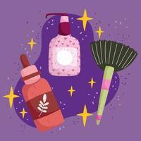produtos orgânicos para procedimentos de beleza e autocuidado vetor