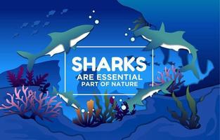 tubarões são parte essencial da natureza vetor