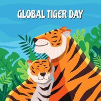 celebração do dia global do tigre vetor