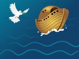 arca de noé pomba da paz vetor