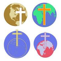 globos transversais do mundo vetor
