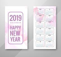 Ano de 2019, Calendar Design vetor