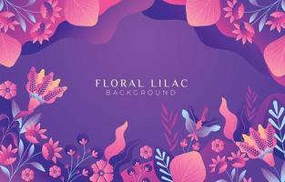 elegante e colorido jardim floral fundo lilás vetor