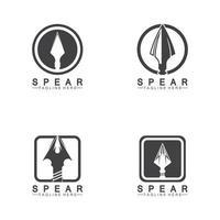 desenho de ilustração vetorial de ícone de logotipo de lança vetor
