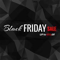 Resumo preto sexta-feira venda cartaz vector design