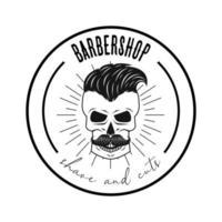 emblema da barbearia vetor