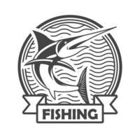 emblema de pesca de espadarte vetor