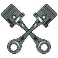 ícones de pistões de motocicleta vetor
