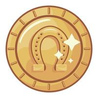 ferradura de moeda de ouro vetor