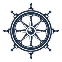 ícone de leme náutico vetor