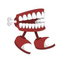 piada dentadura ícone ambulante dia dos tolos vetor