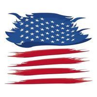 bandeira dos EUA pintada vetor