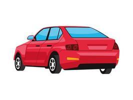 carro vermelho de volta vetor