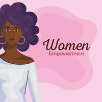 empoderamento das mulheres com desenhos de mulheres negras de desenho vetorial lateral vetor