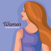 empoderamento das mulheres com desenho de mulher de desenho vetorial lateral vetor