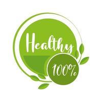produto orgânico saudável vetor