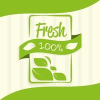 produto orgânico fresco vetor