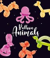 brinquedos de animais de balão vetor