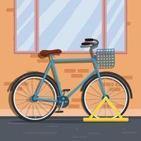 bicicleta na rua vetor