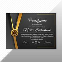 Certificado criativo bonito do modelo de prêmio de apreciação vetor