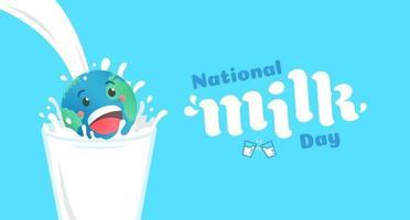 ilustração vetorial do dia nacional do leite vetor