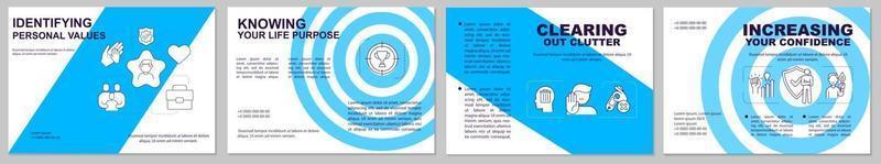 identificando modelo de folheto de valores pessoais vetor
