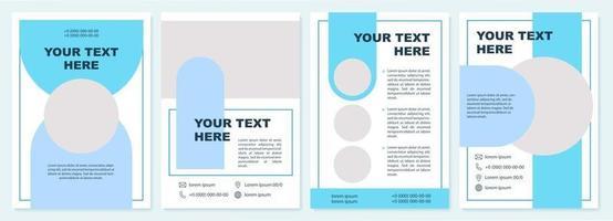 modelo de folheto de apresentação de marketing criativo vetor