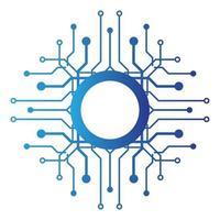 design do logotipo do circuito vetor