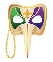 ícone de máscara de arlequim de mardi gras vetor