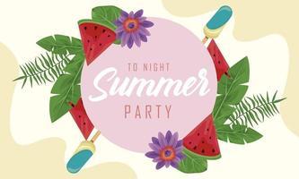 moldura de festa de verão vetor