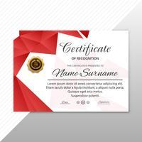 Modelo de certificado com design de estilo moderno vetor