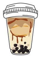 brownie de leite bolha vetor