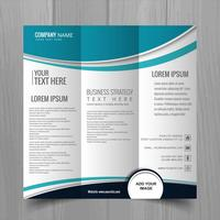 Vetor de design de modelo de folheto abstrato ondulado negócios